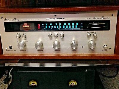 Vintage Marantz Model 27 Stereo Receiver With Walnut Case Tech Serviced A-1