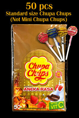 Chupa Chups 4 Flavours 50pcs Bulk for Birthday or any party