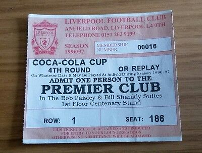Liverpool v Arsenal 27/11/96 Coca Cola Cup 4th round