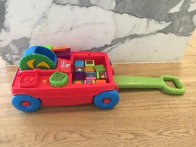 Fischer Price Pull Along Musical Cart With Blocks