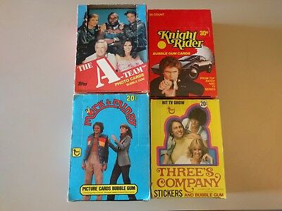 Lot of 4 Empty Box from TV Shows A-Team Knight Rider Three's Company Mork Mindy