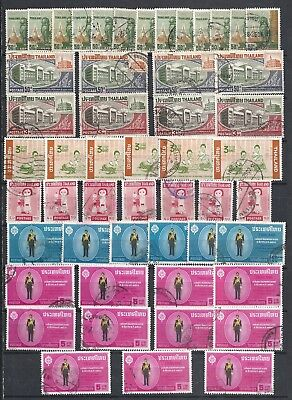 Siam/thailand.   1963 - 1966 Lot In Numbers Used