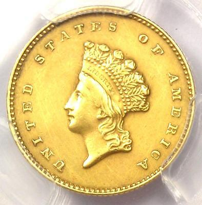 "1855-O Type 2 Indian Gold Dollar (G$1 Coin) - PCGS AU Details - Rare ""O"" Mint!"