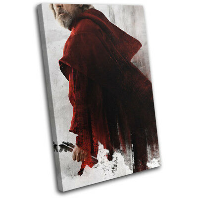 Star Wars The Last Jedi Poster Gaming SINGLE CANVAS WALL ART Picture Print