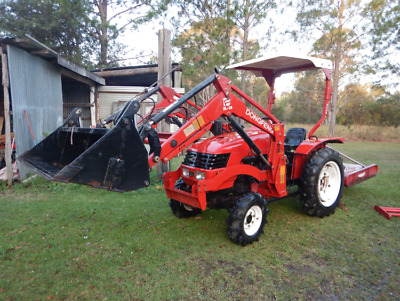 Tractor 4X4 25Hp 4 In One Bucket, Slasher, Dong Fang, Near New