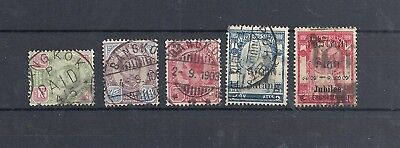 Siam/thailand.     5 Stamps With Nice Cancelations 1887 - 1909