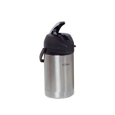 (Silver) - Bunn Airpot-2.5 Litre Lever-Action, Stainless Steel. Delivery is Free