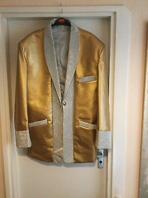 Elvis Pre Jumpsuit Era Gold Lame Jacket