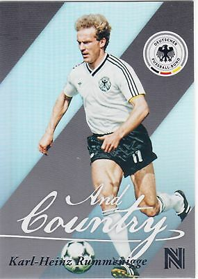 2017 Panini Nobility Soccer Karl-Heinz Rummenigge And Country Insert Card