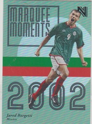 2017 Panini Nobility Soccer Jared Borgetti Marquee Moments Insert Card