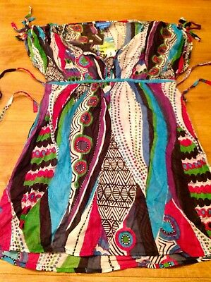 Tridagna Ladies Beach Swimsuit Cover Up,multi Colour,size Large.new