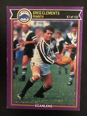 #97  1987 Scanlens Penrith Panthers Rugby League NRL Card - Near Mint