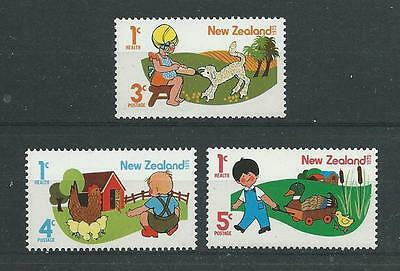New Zealand SG1079-1081 1975 Health Unhinged Mint