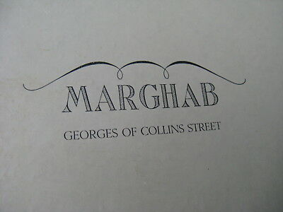 Marghab Madeira & hand embroidery PLACE MATS SET 8 in box GEORGES OF COLLINS ST