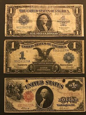 Large Note Lot, 1899 Black Eagle, 1917 Red Seal, 1923 Silver Certificate