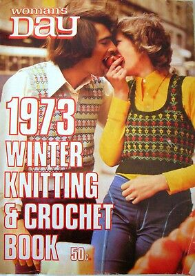 Vintage Woman's Day - 1973 WINTER KNITTING & CROCHET BOOK - Retro Patterns