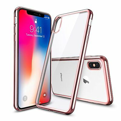 """For Apple iPhone X / 10 5.8"""" Luxury Ultra Thin Clear Plating TPU Soft Case Cover"""