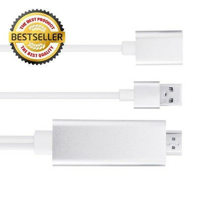 Lightning To HDMI Adapter Cable 1080P HDTV USB AV Converter For iPhone iPad Or A