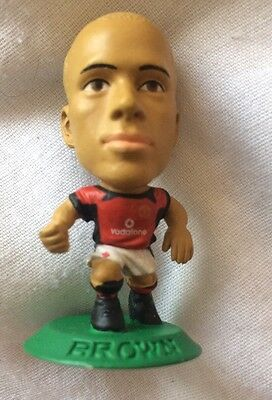 Wes Brown  Manchester United Football Club Corinthian Microstar Green Base