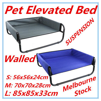 Pet Dog Puppy Cat Elevated WALLED SUSPENSION Bed Trampoline Hammock Heavy Duty