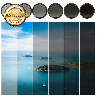 KF Concept® 49mm Slim Fader Variable ND Neutral Density Adjustable ND2 to ND400