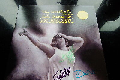 """THE WOMBATS Let's Dance to Joy Division LTD UK SIGNED, NUMBERED YELLOW VINYL 7""""!"""
