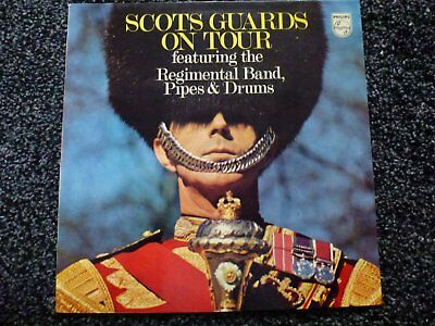 Scots Guards on Tour Regimental Band Pipes and Drums Vinyl LP (made in Italy)