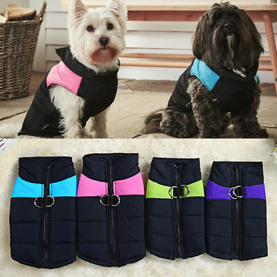Waterproof Pet Dog Puppy Coat Jacket Winter Warm Quilted Padded Puffer Small UK
