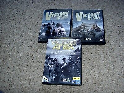 3 Dvds.victory At Sea
