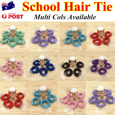 10Pcs Kids Girls Elastic School Hair Tie/Hair Band For Ponytail Multi Cols