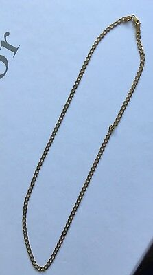 9ct Yellow Gold Chain Necklace Not Scrap