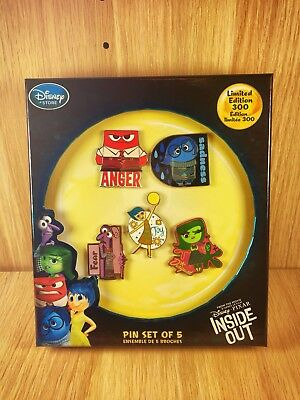 """Disney """"Alles steht Kopf"""" / """"Inside Out"""" Pin Set of 5 / Limited Edition 300"""
