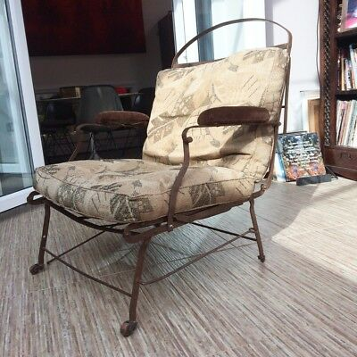 Unusual, 19th century iron campaign chair/ bed- rare collectors piece.