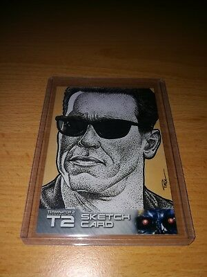 Terminator 2 Paul Cowan Sketch Card by Unstoppable Cards 2017