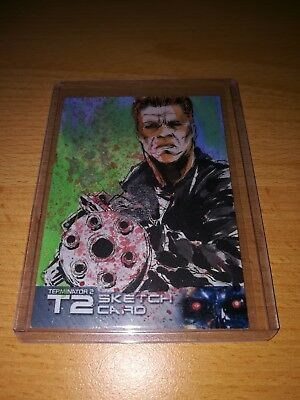 Terminator 2 Breed Sketch Card by Unstoppable Cards 2017