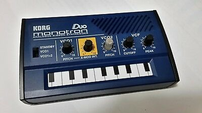 Korg Monotron Duo Analog Ribbon Synthesizer Dual Vco Oscillator