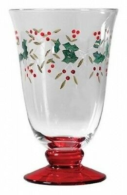 Pfaltzgraff Winterberry 410ml Glass Water Goblets, Set of 4. Shipping Included