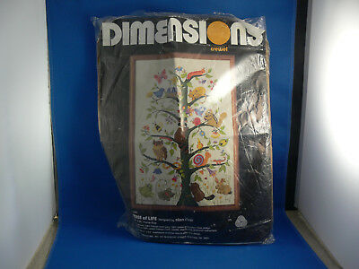 Dimensions Crewel Embroidery Kit Tree Of Life By Ellen Silver - Vintage