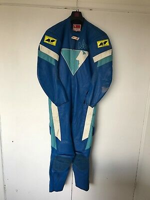 RS Taichi Nixe one piece racing leathers size 56 classic vintage retro damaged