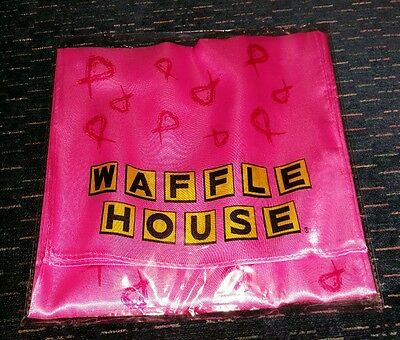 Waffle House neck scarf Breast Cancer Awareness Pink  New