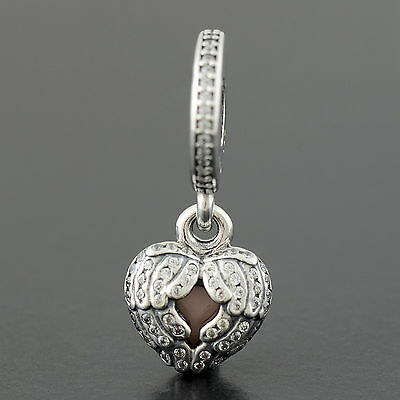 New Authentic Genuine Pandora Sterling Silver Angel Wings Charm - 791737CZ