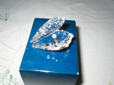 Stylish Asfour Diamond Crystal Oyster Shell And Pearl Boxed