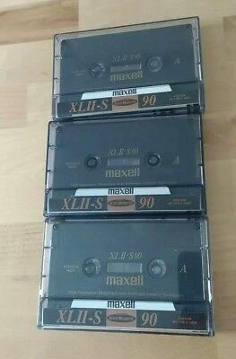 Maxell XLII - S 90 chrome type 2 cassette, x 3 recorded once