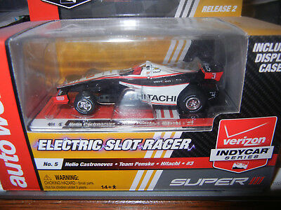Auto World Super III Helio Castroneves Hitachi #3 INDY F-1 SLOT CAR
