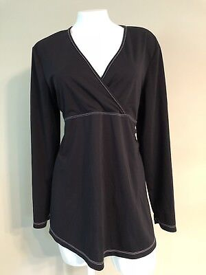 Women's Maternity Announcements Long Sleeves Top Maternity Black White Size L