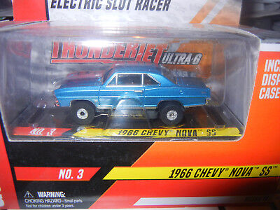 Auto World Blue '68 Chevy Nova Thunderjet Ultra G Release Slot Car Mint In Box