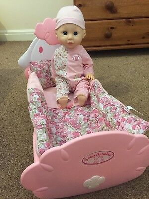 baby annabell Learns to walk and Sheep bed