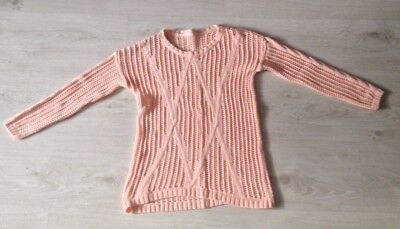 girls pink knitted jumper aged 8-9