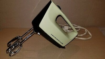 Hamilton Beach Vintage Mid Century Hand Mixer Mixette Model 87.1 Tested Working