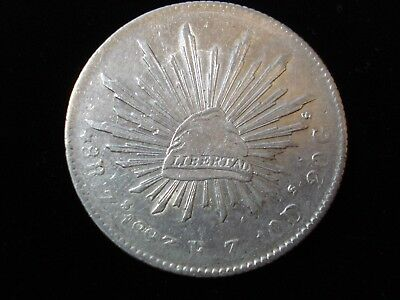 1893 Mexico 8 Reales Silver Coin  #ADL1